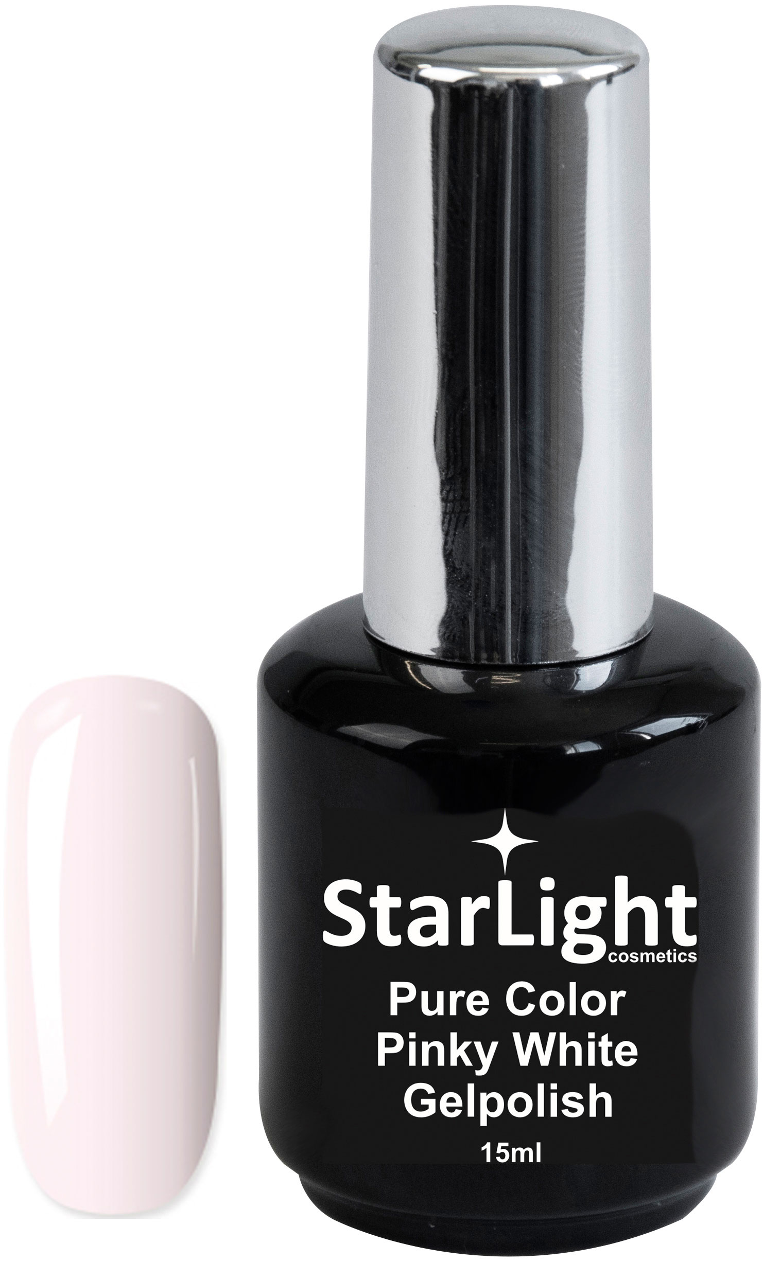 Naglar Gelpolish Pure Color Pinky White - 15 ml