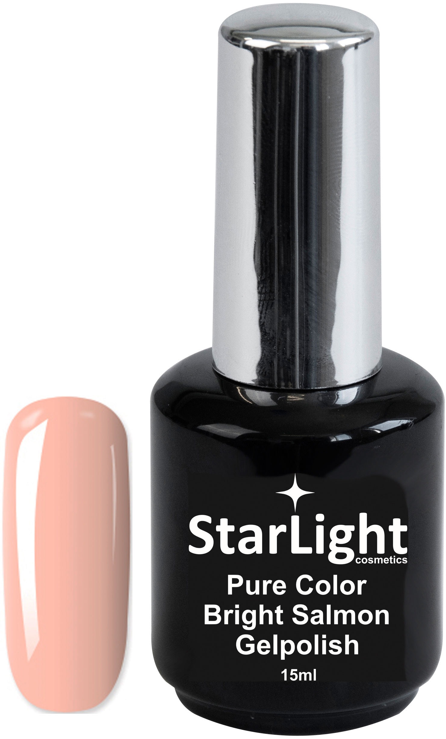 Naglar Gelpolish Pure Color Bright Salmon - 15 ml