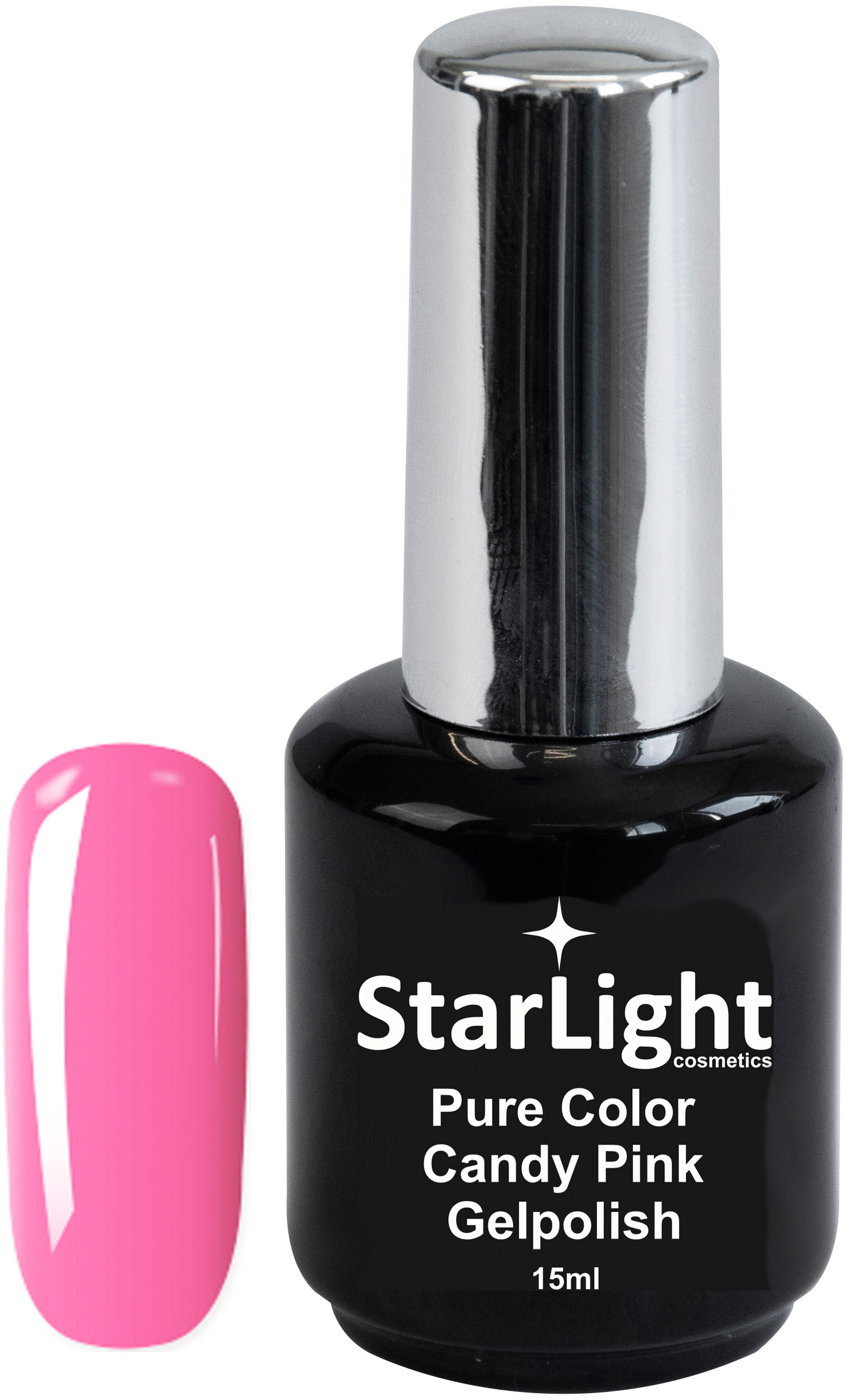 Naglar Gelpolish Pure Color Candy Pink - 15 ml