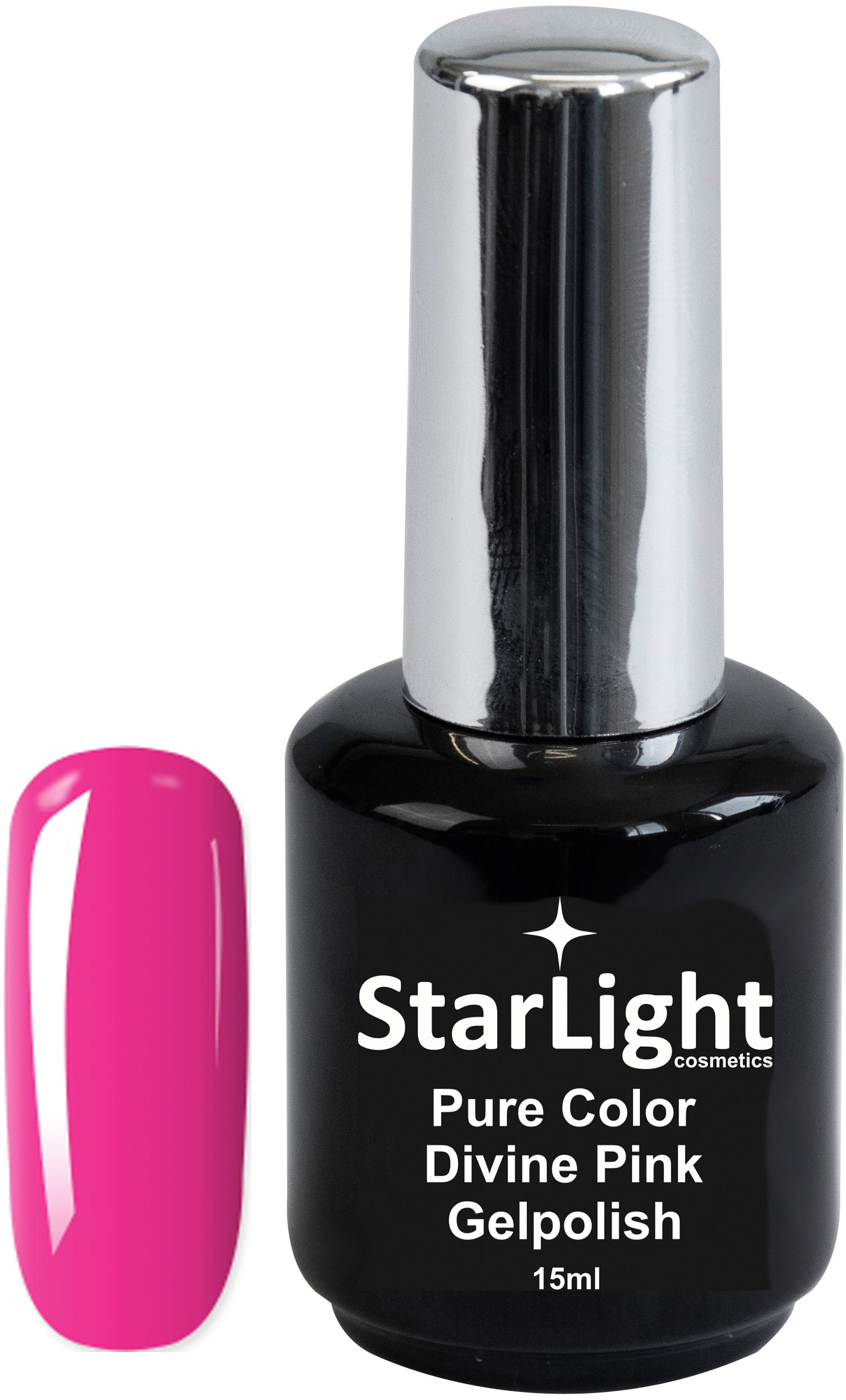 Naglar Gelpolish Pure Color Divine Pink - 15 ml