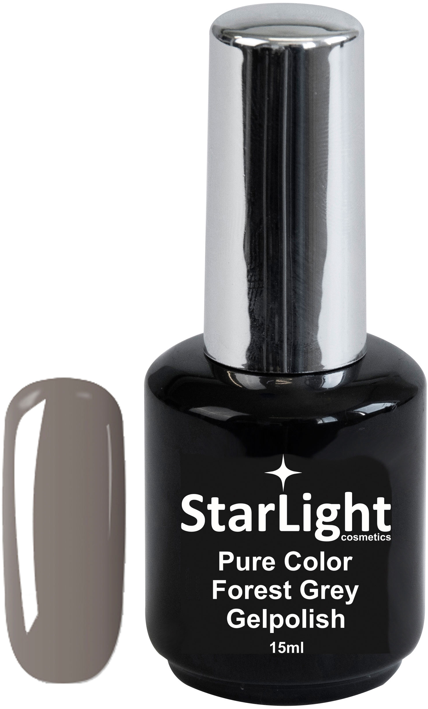 Naglar Gelpolish Pure Color Forest Grey - 15 ml
