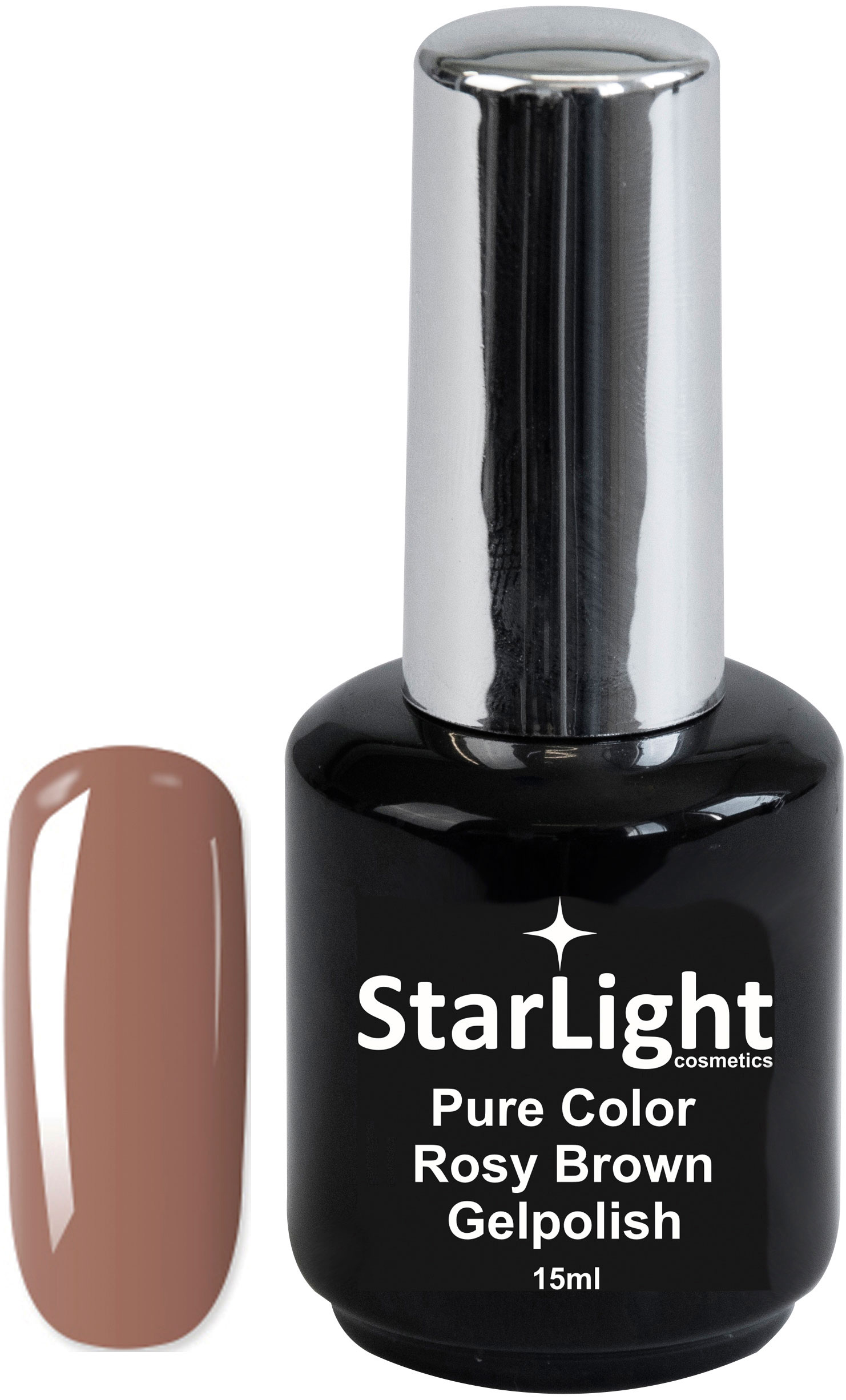 Naglar Gelpolish Pure Color Rosy Brown - 15 ml