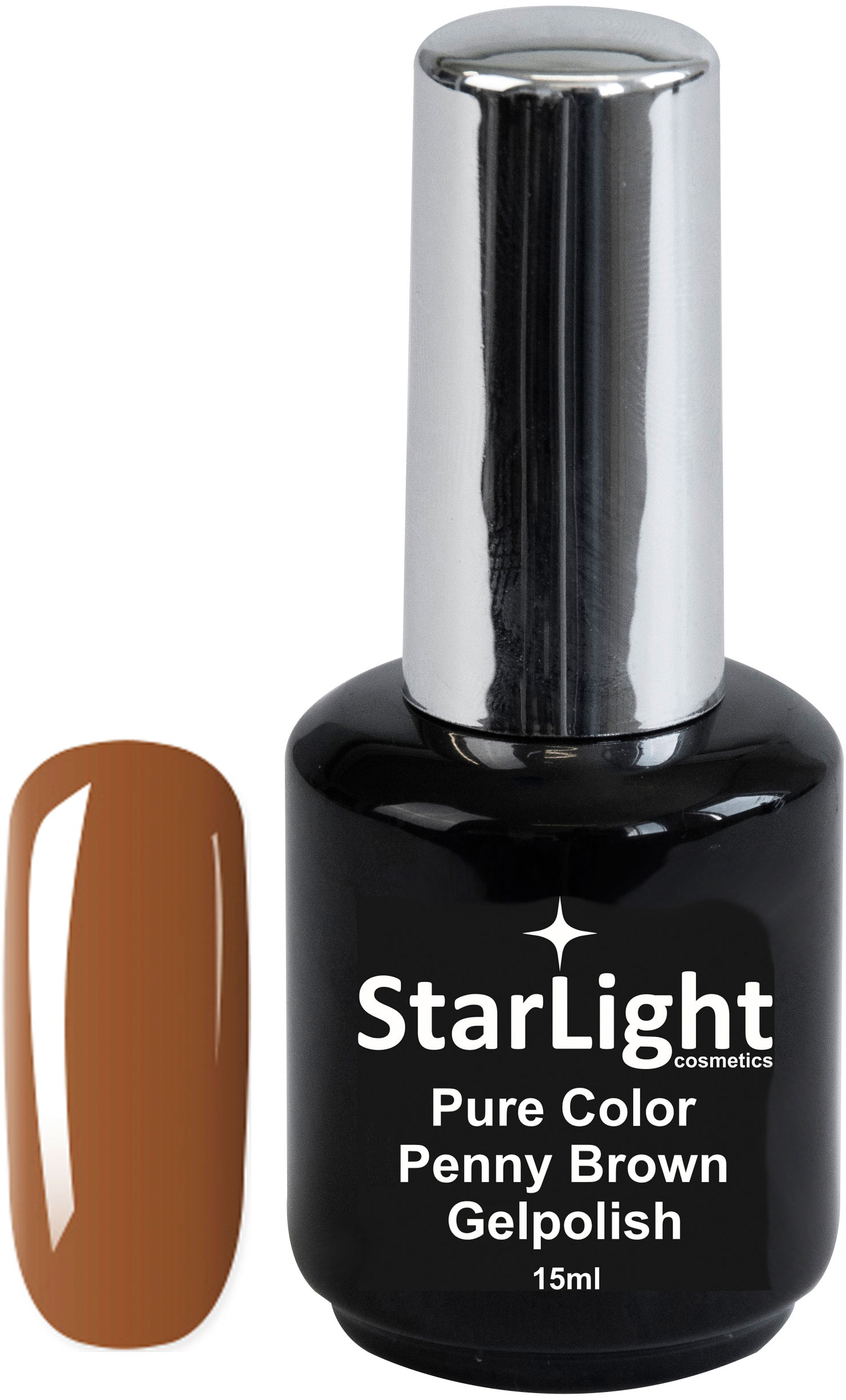 Naglar Gelpolish Pure Color Penny Brown - 15 ml