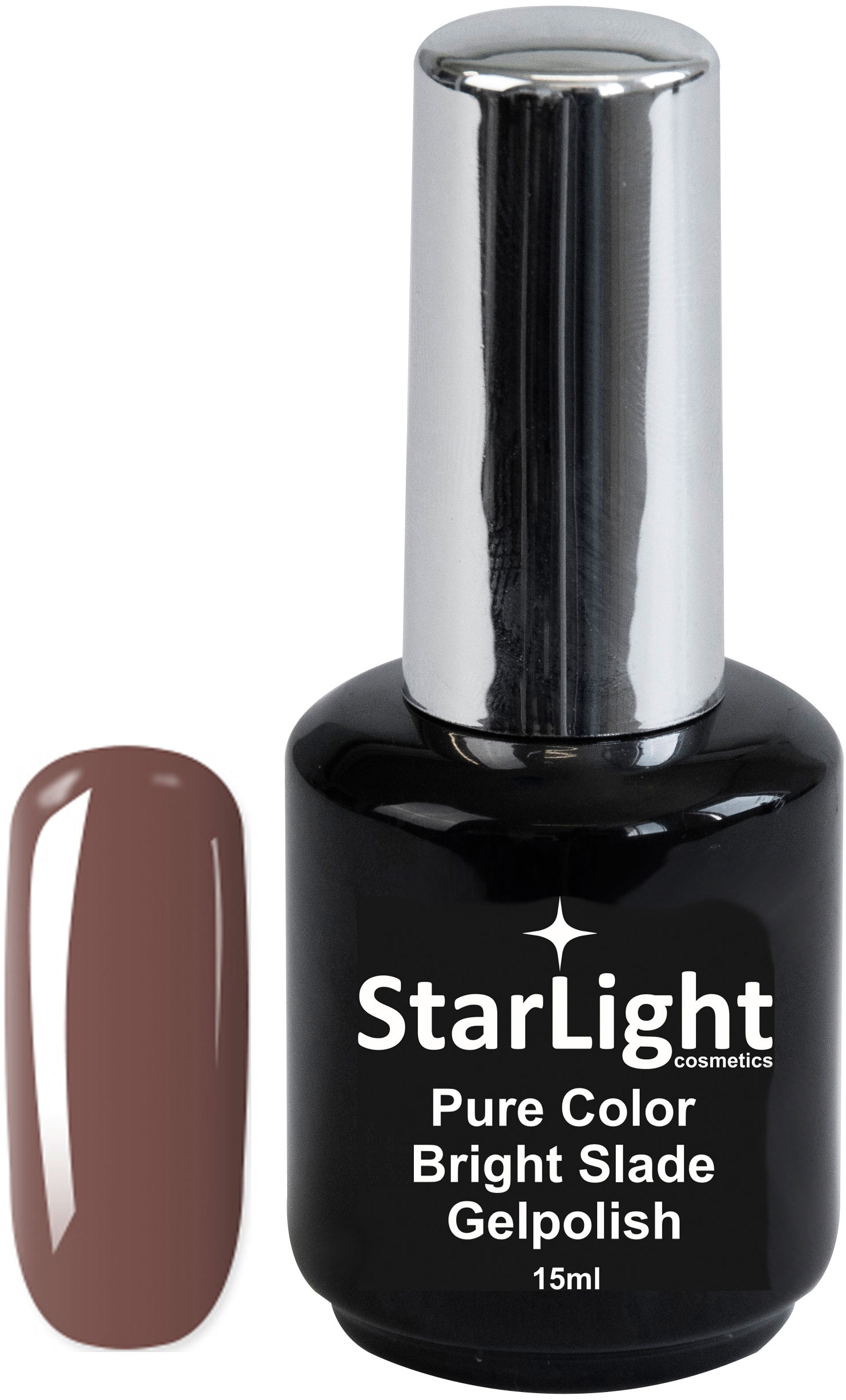 Naglar Gelpolish Pure Color Bright Slade - 15 ml
