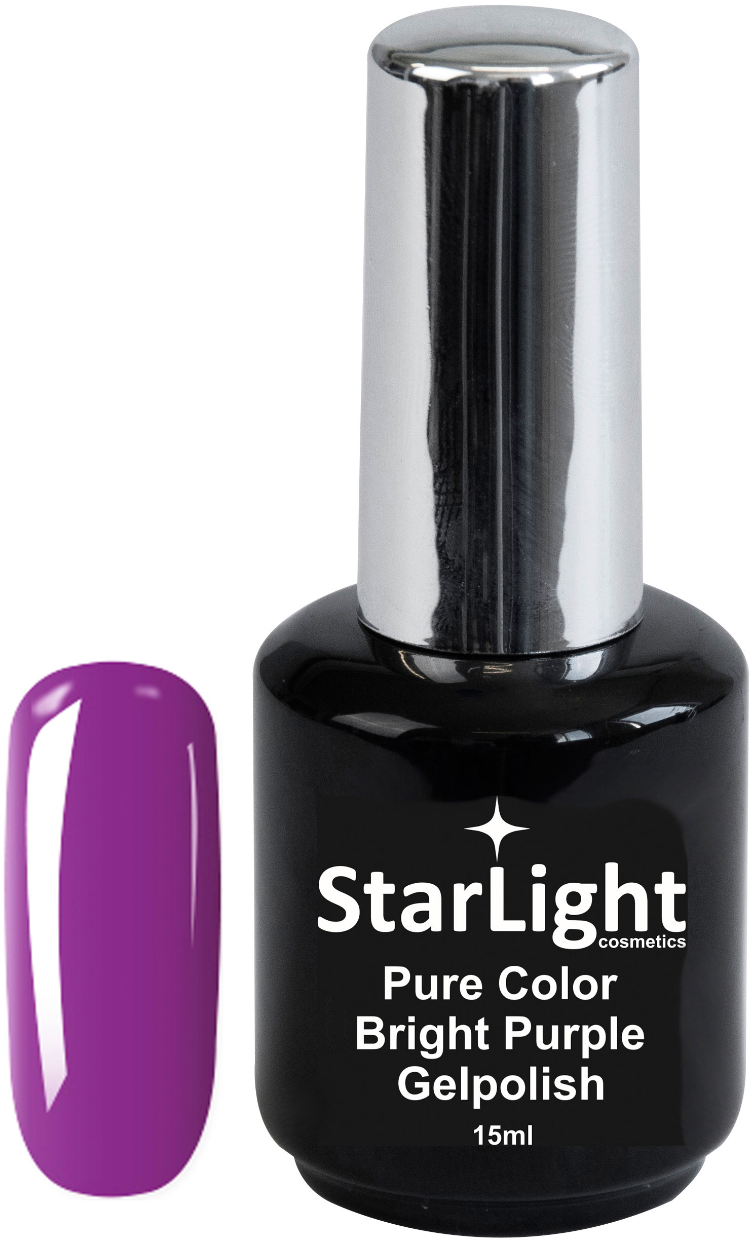 Naglar Gelpolish Pure Color Bright Purple - 15 ml