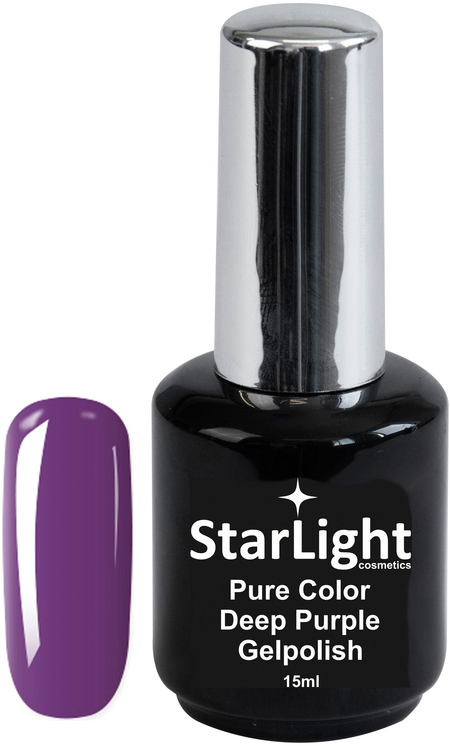 Naglar Gelpolish Pure Color Deep Purple - 15 ml