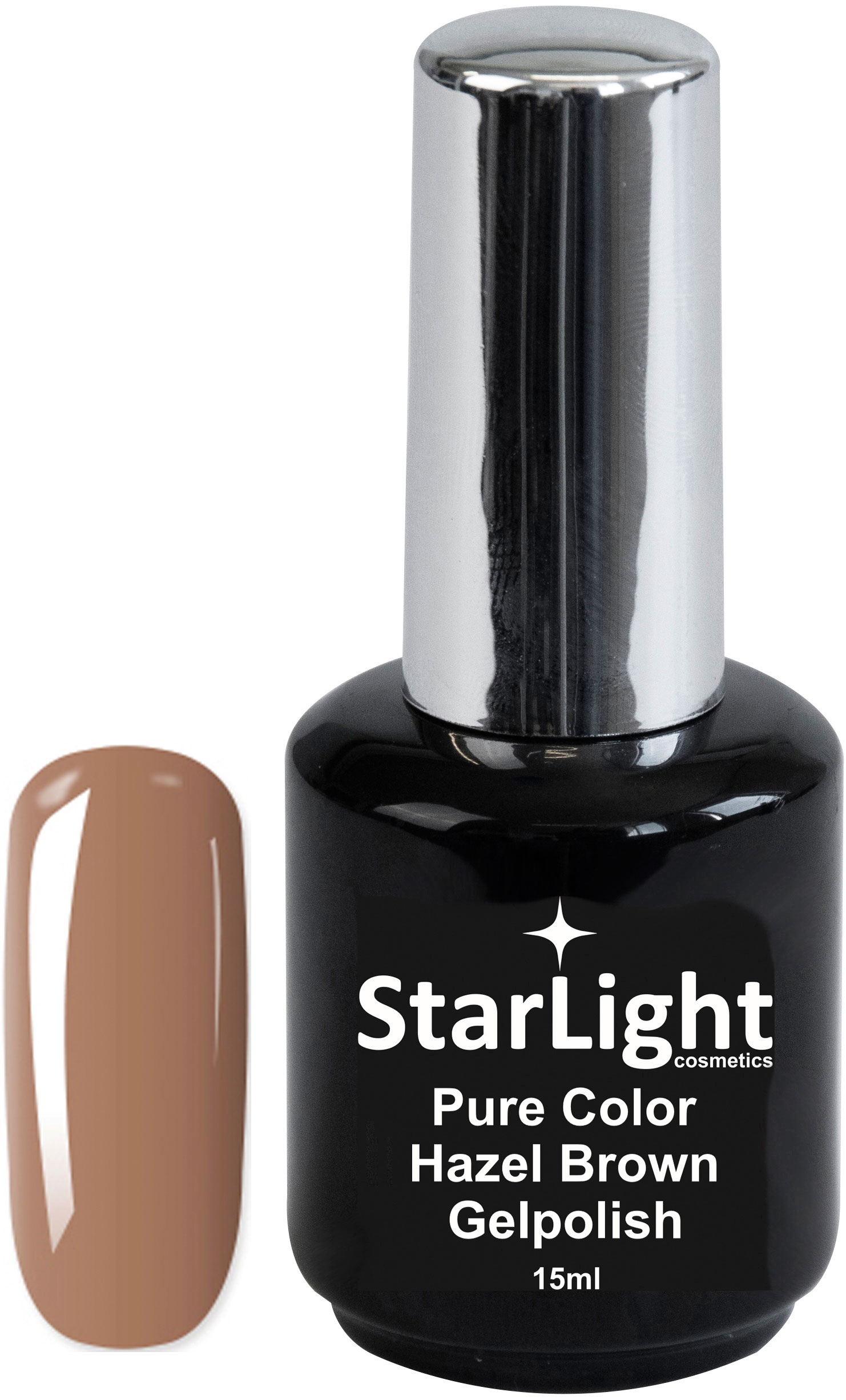 Naglar Gelpolish Pure Color Hazel Brown - 15 ml