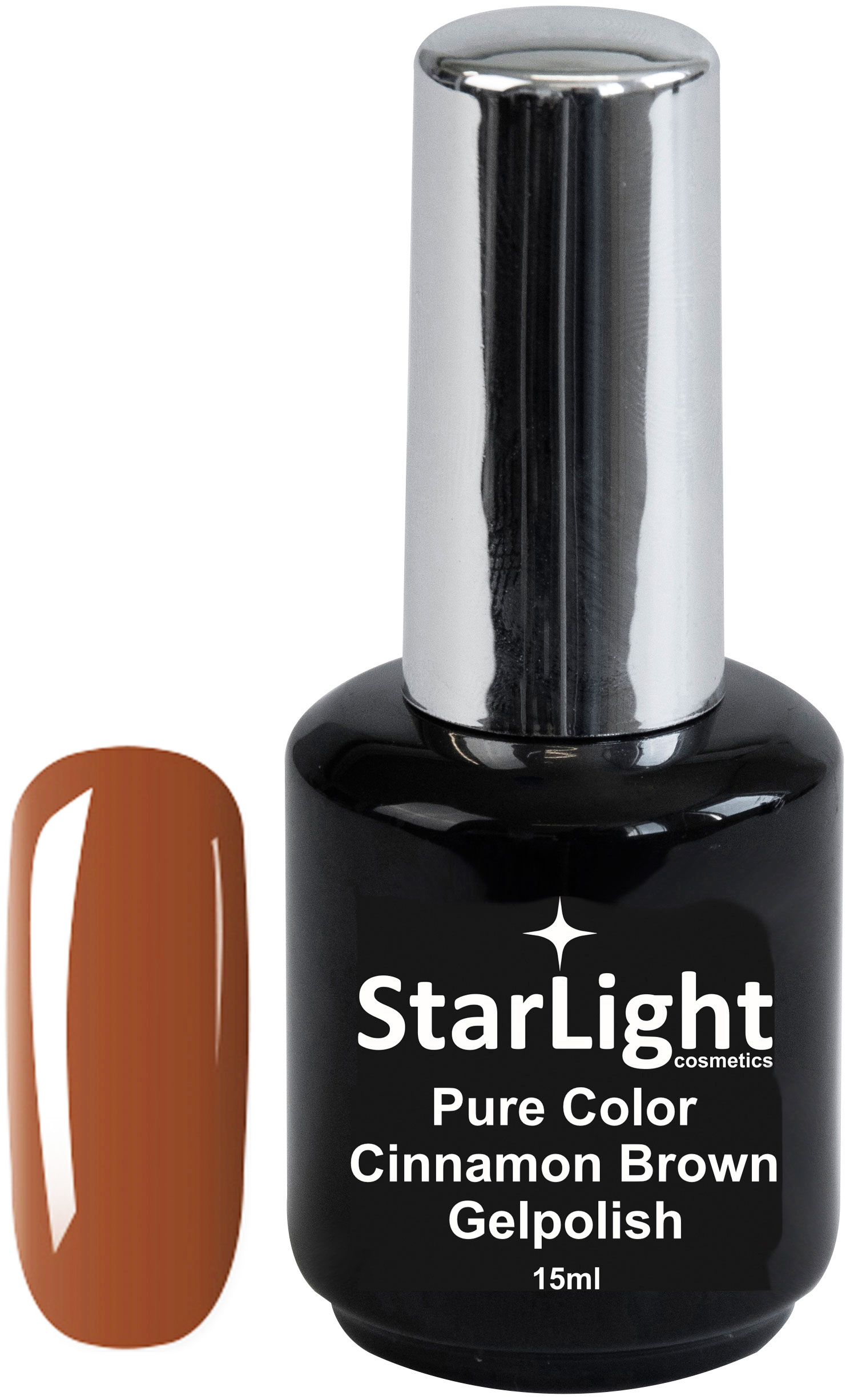 Naglar Gelpolish Pure Color Cinnamon Brown - 15 ml