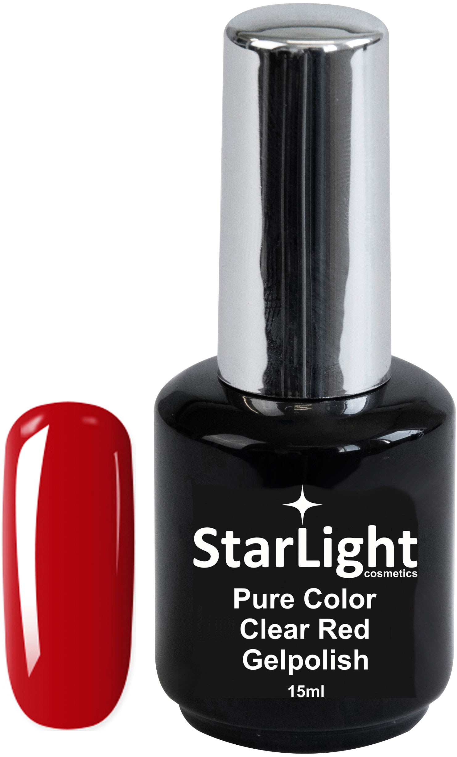 Naglar Gelpolish Pure Color Clear Red - 15 ml