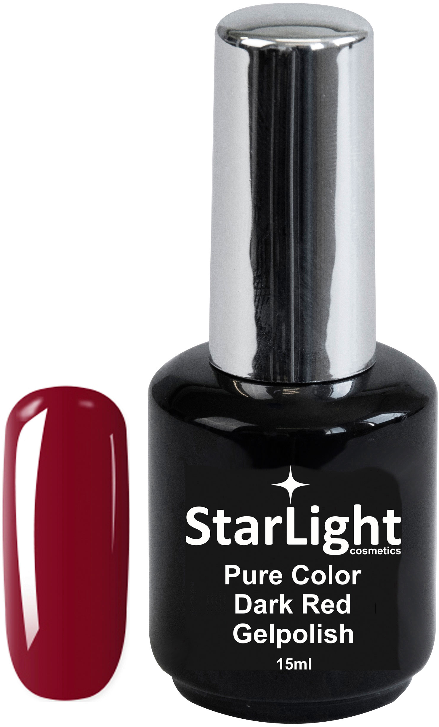 Naglar Gelpolish Pure Color Dark Red - 15 ml