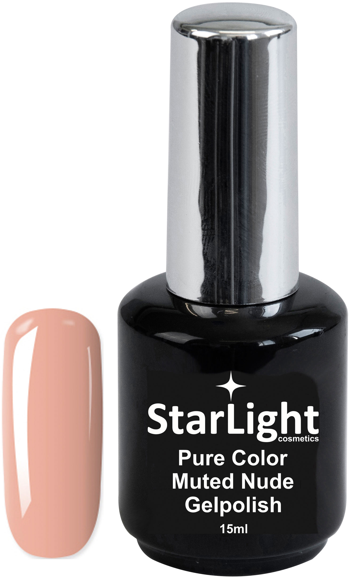 Naglar Gelpolish Pure Color Muted Nude - 15 ml