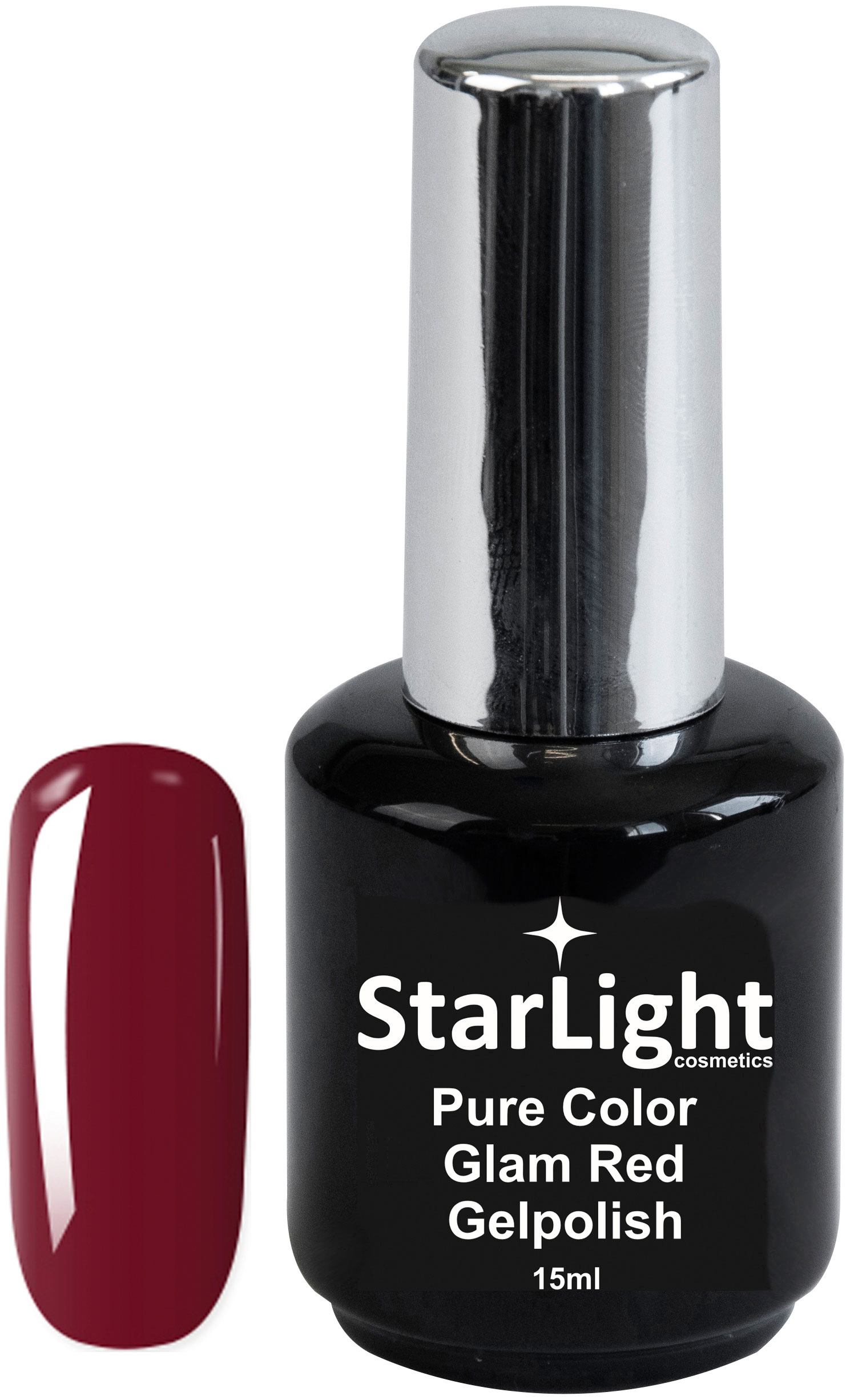 Naglar Gelpolish Pure Color Glam Red - 15 ml