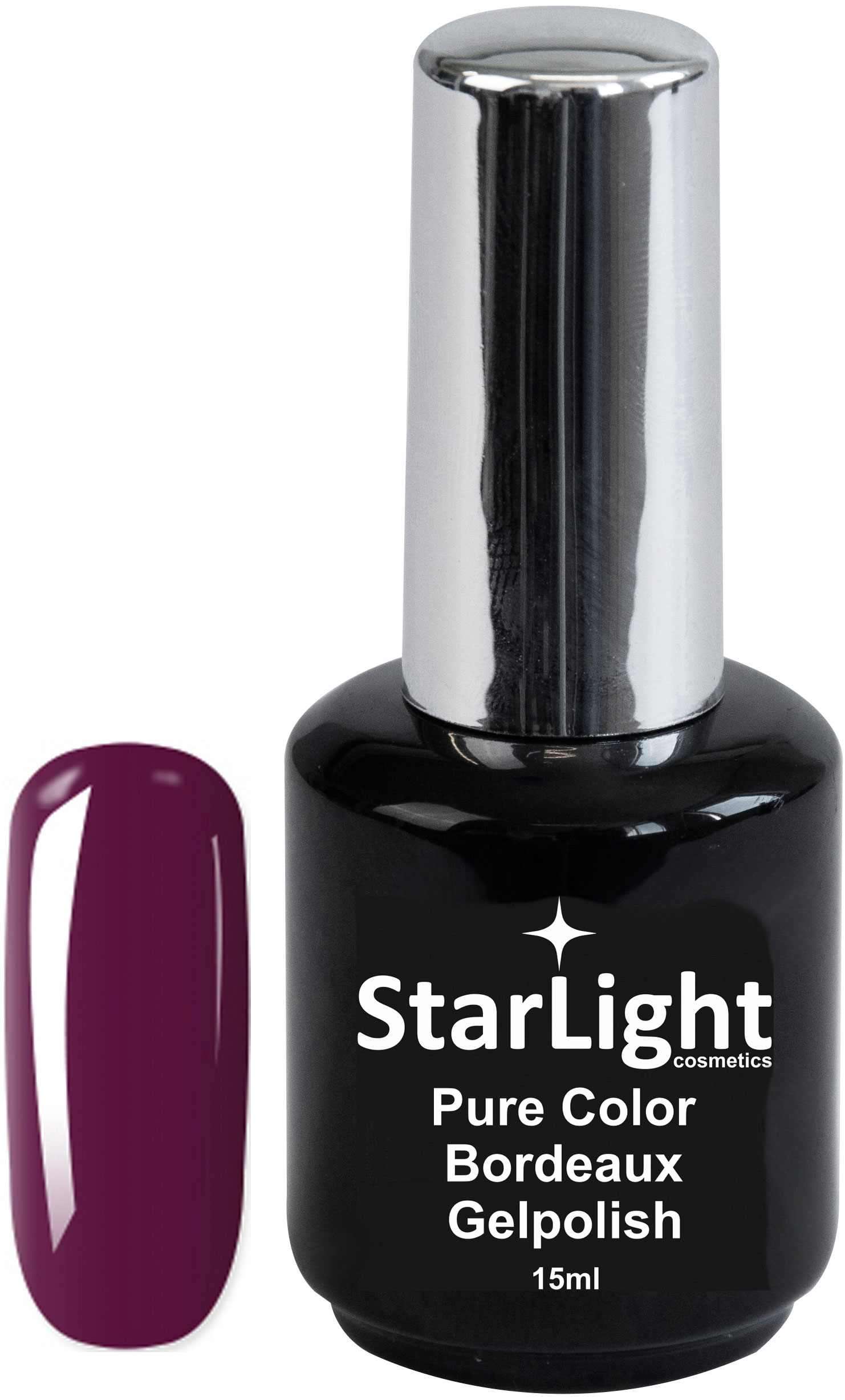 Naglar Gelpolish Pure Color Bordeaux - 15 ml