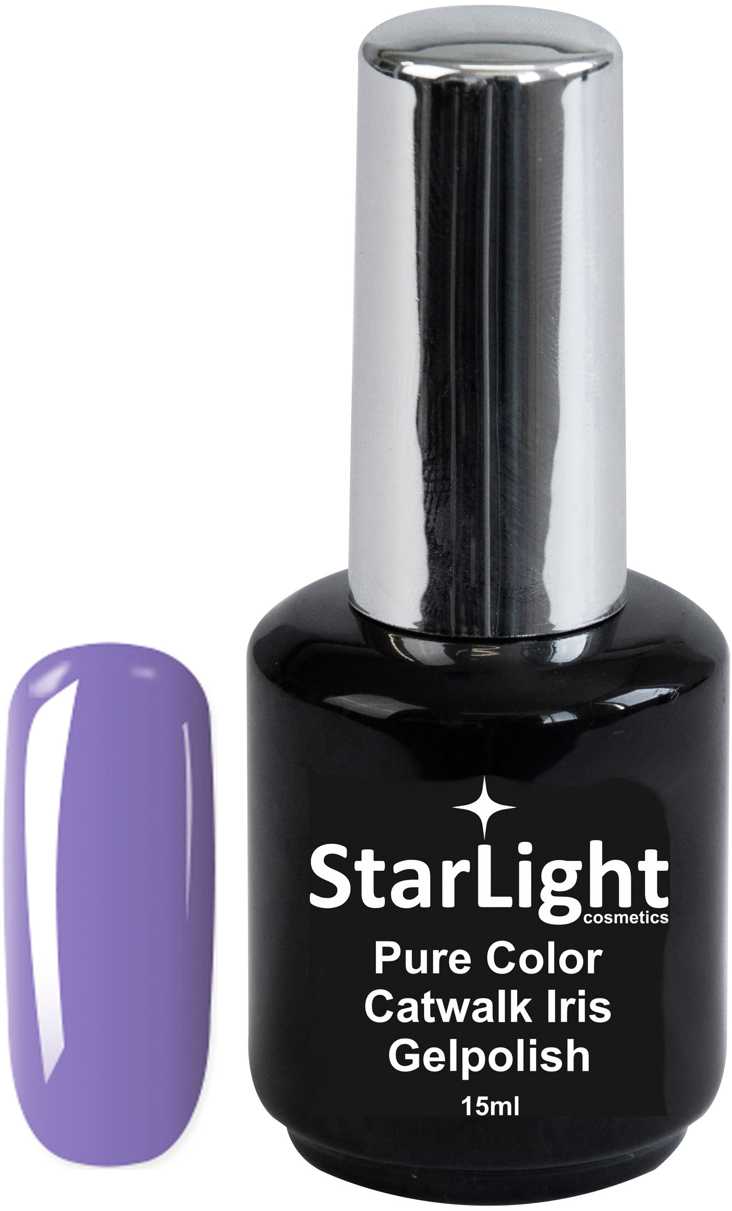 Naglar Gelpolish Pure Color Catwalk Iris - 15 ml