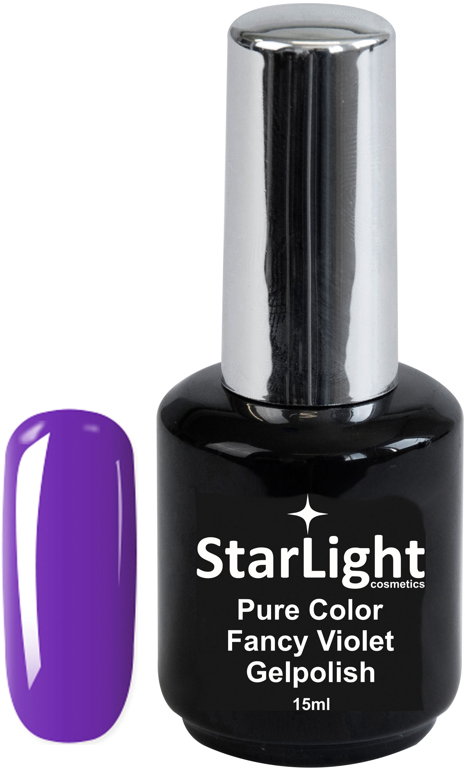 Naglar Gelpolish Pure Color Fancy Violet - 15 ml