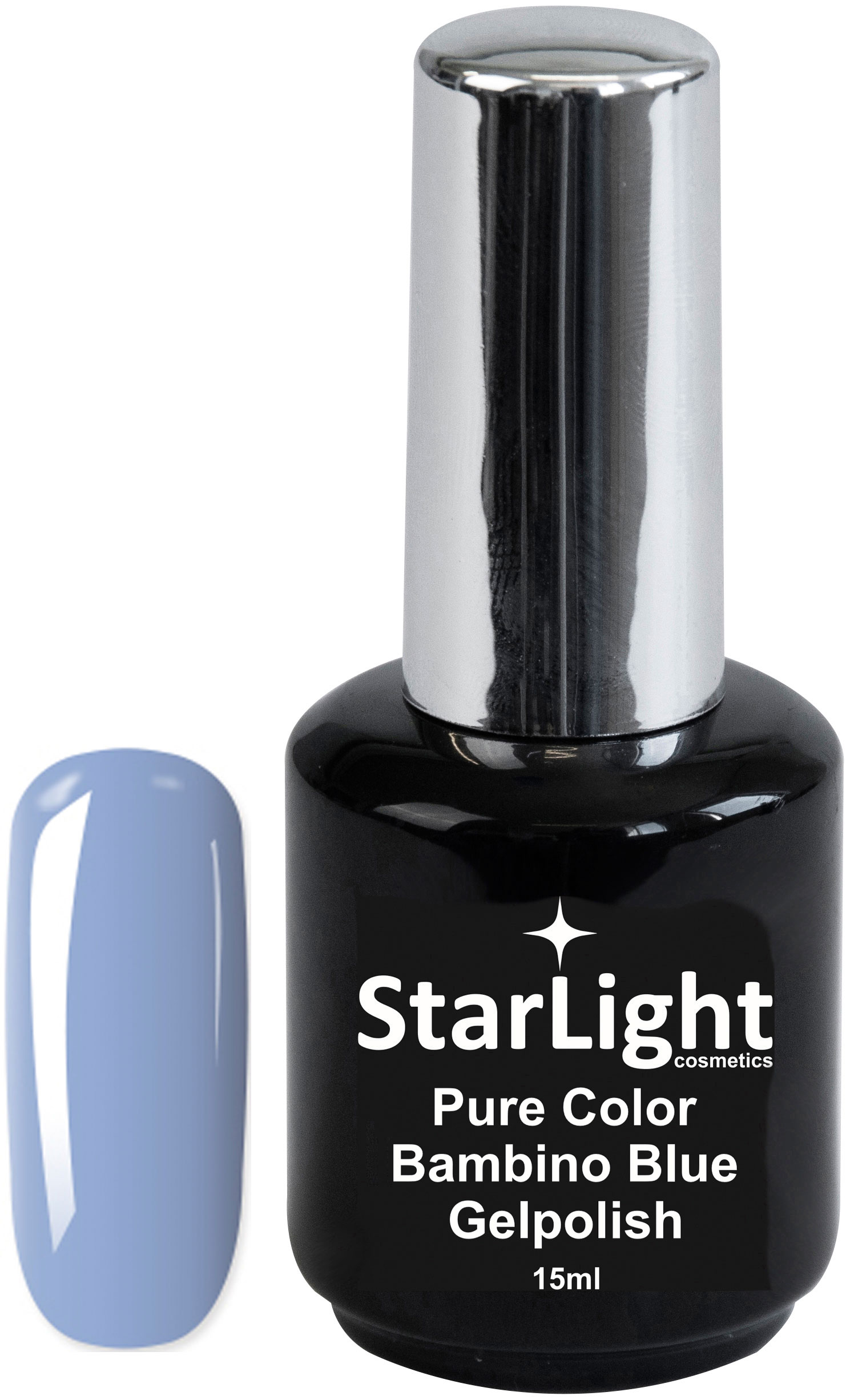 Naglar Gelpolish Pure Color Bambino Blue - 15 ml