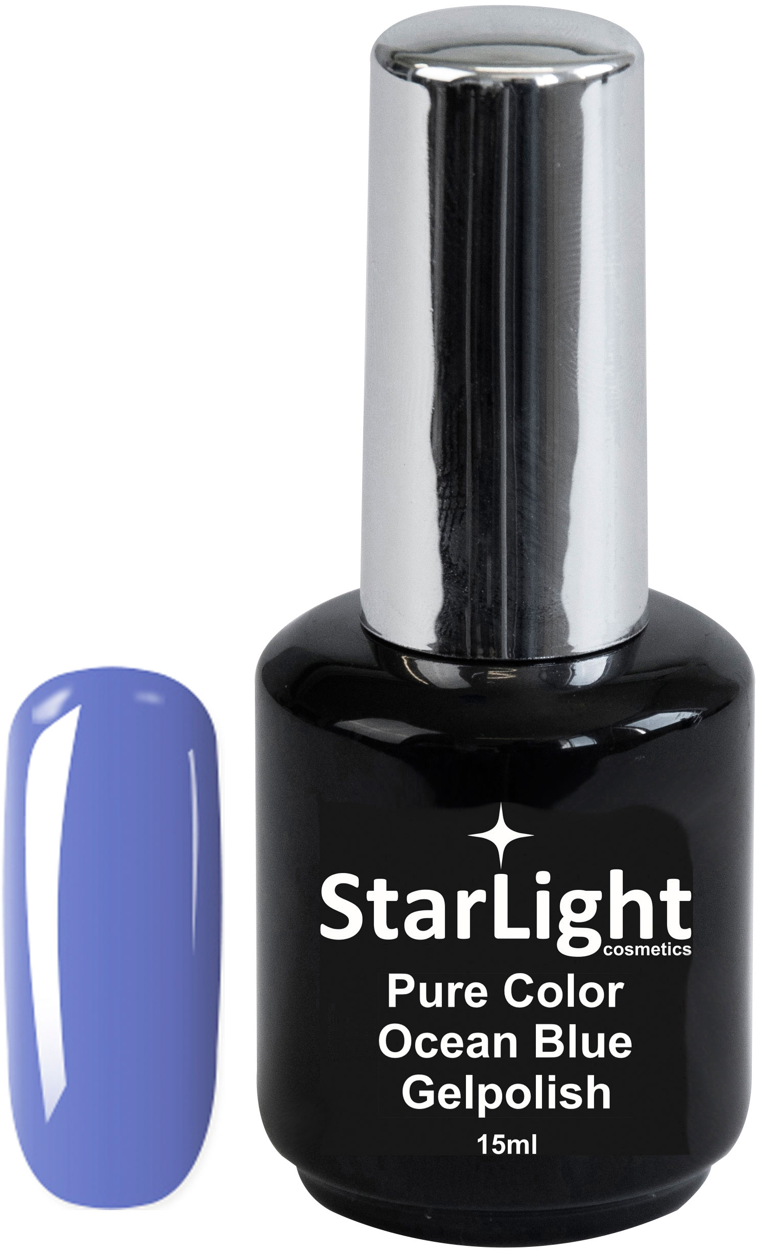 Naglar Gelpolish Pure Color Ocean Blue - 15 ml