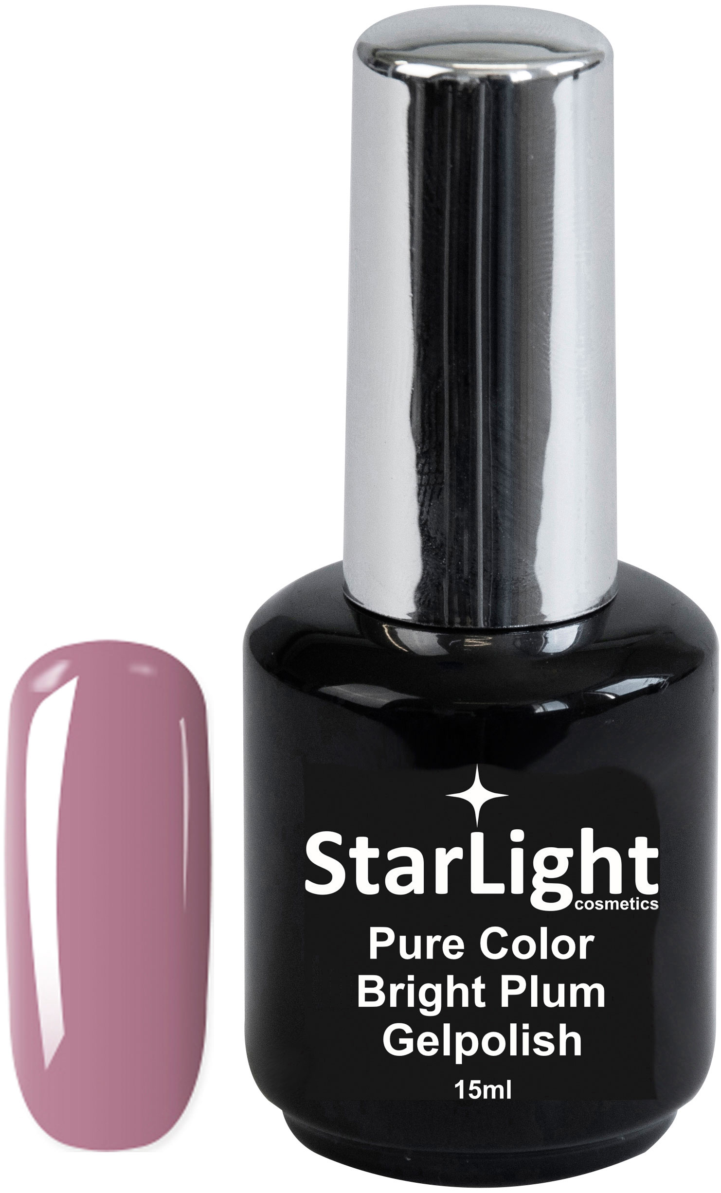 Naglar Gelpolish Pure Color Bright Plum - 15 ml