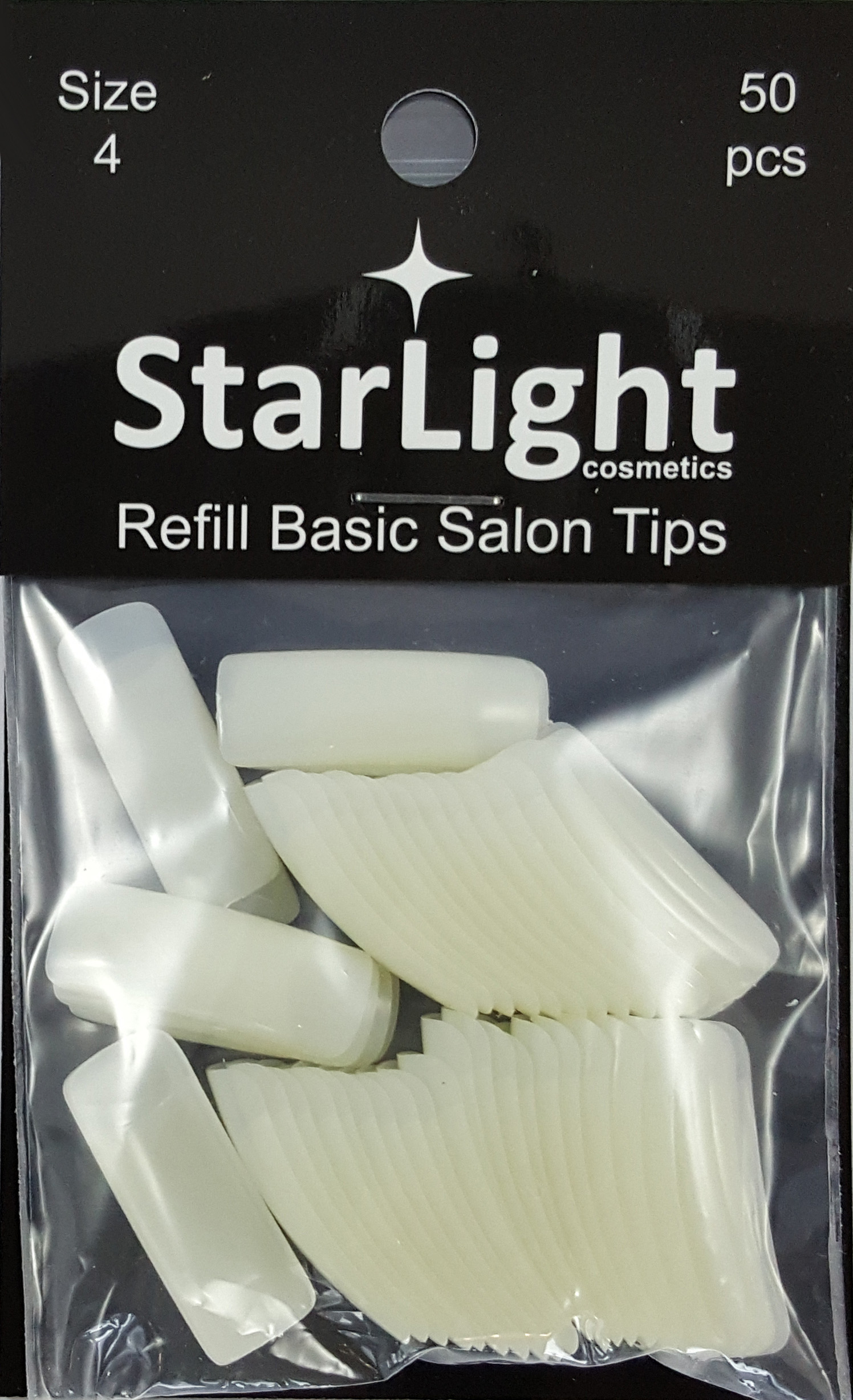 Naglar Basic Salon Tips Refill - 50 st Storlek 4