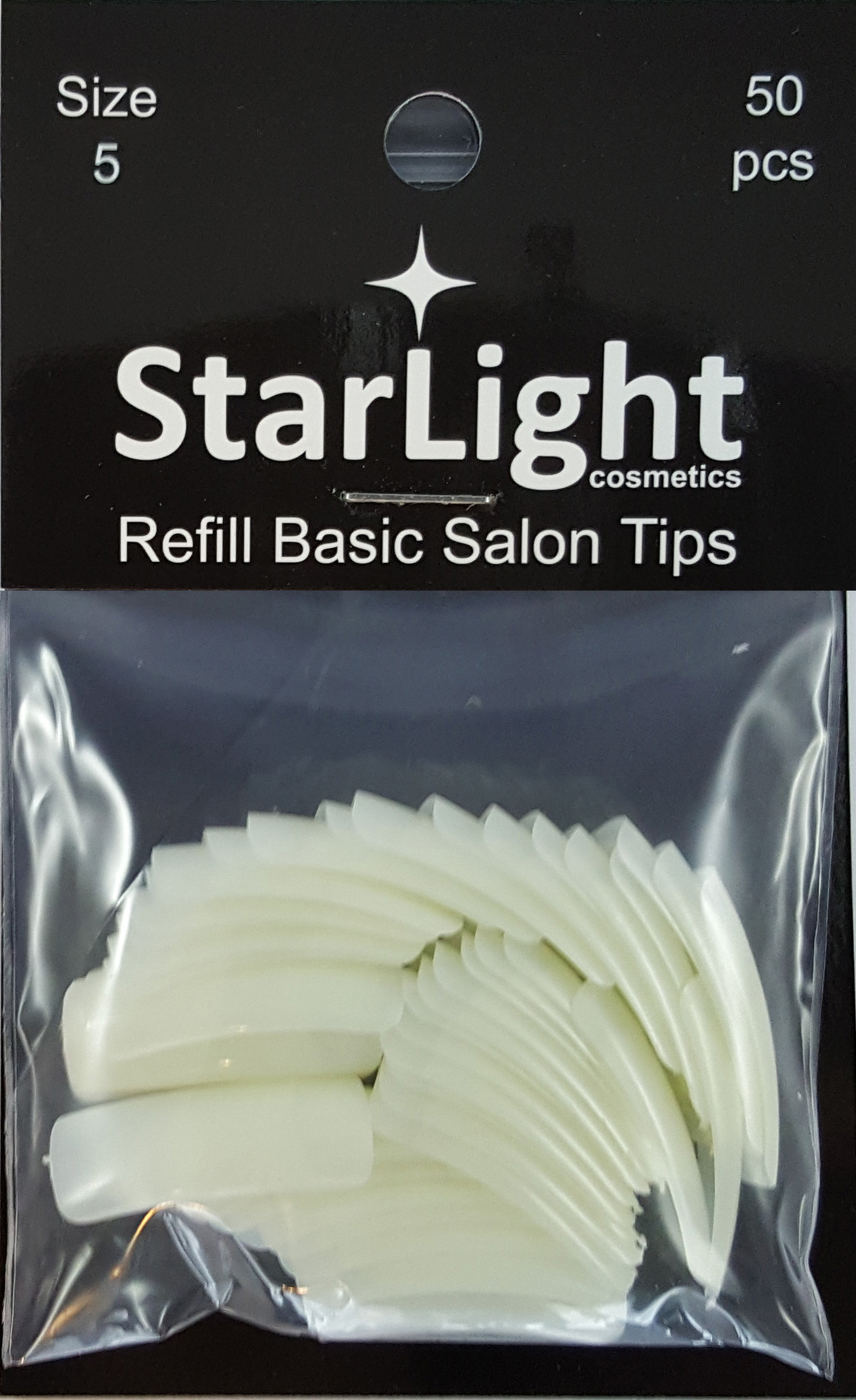 Naglar Basic Salon Tips Refill - 50 st Storlek 5