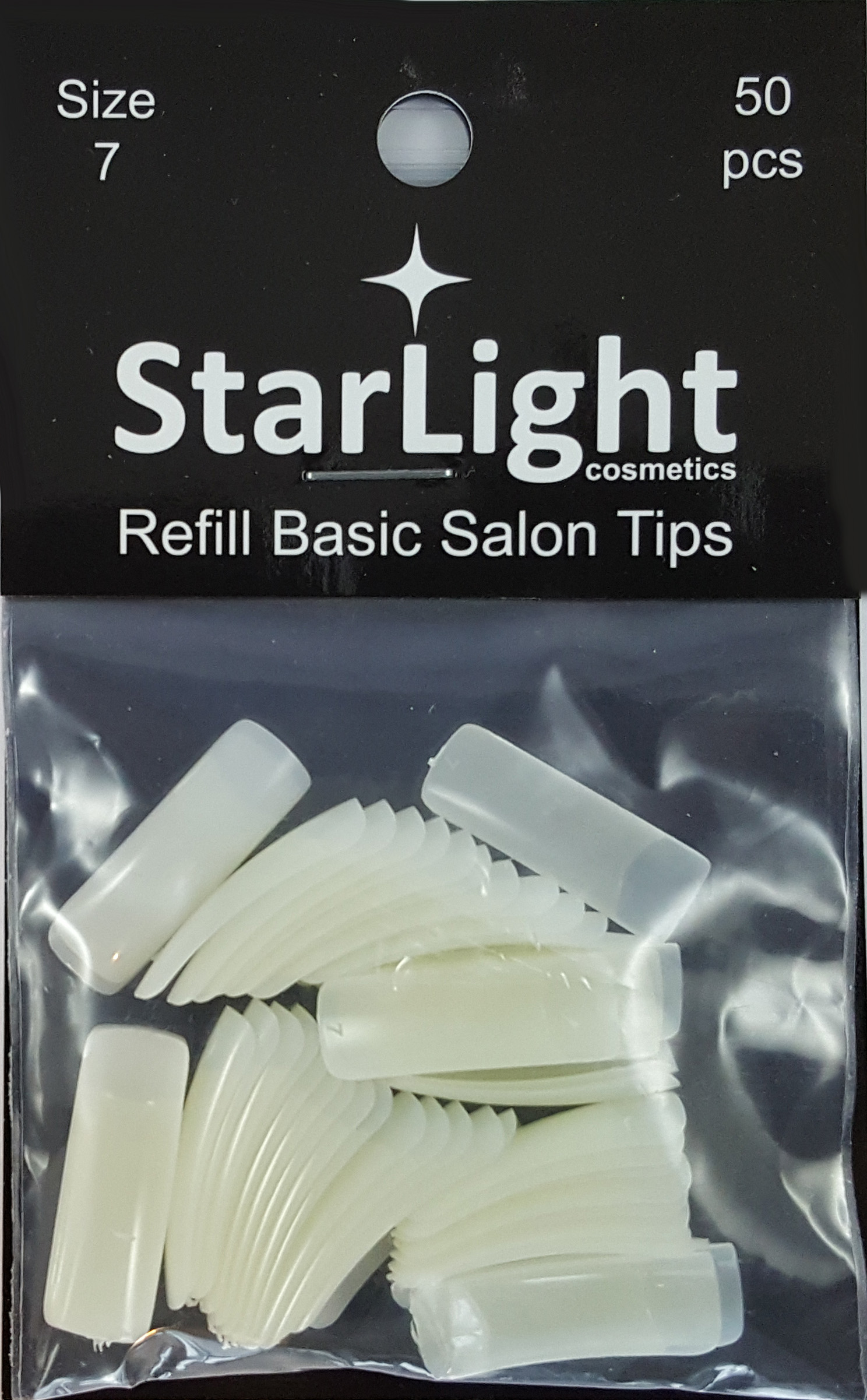 Naglar Basic Salon Tips Refill - 50 st Storlek 7