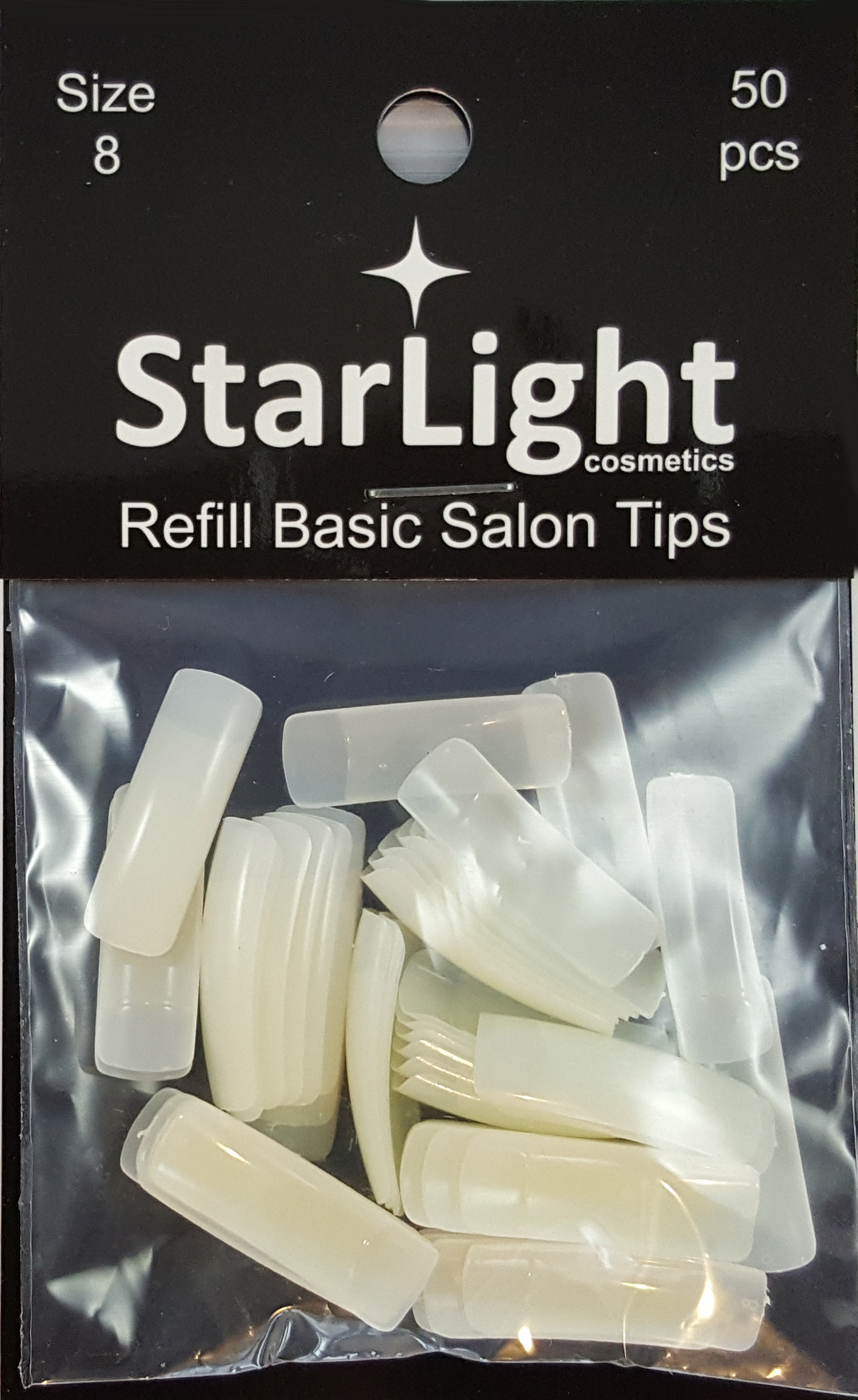 Naglar Basic Salon Tips Refill - 50 st Storlek 8