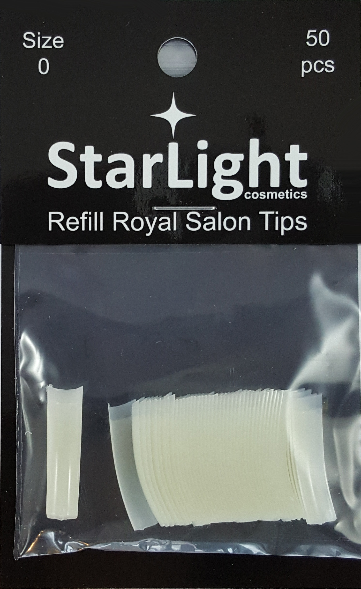 Naglar Royal Salon Tips Refill - 50 st Storlek 0