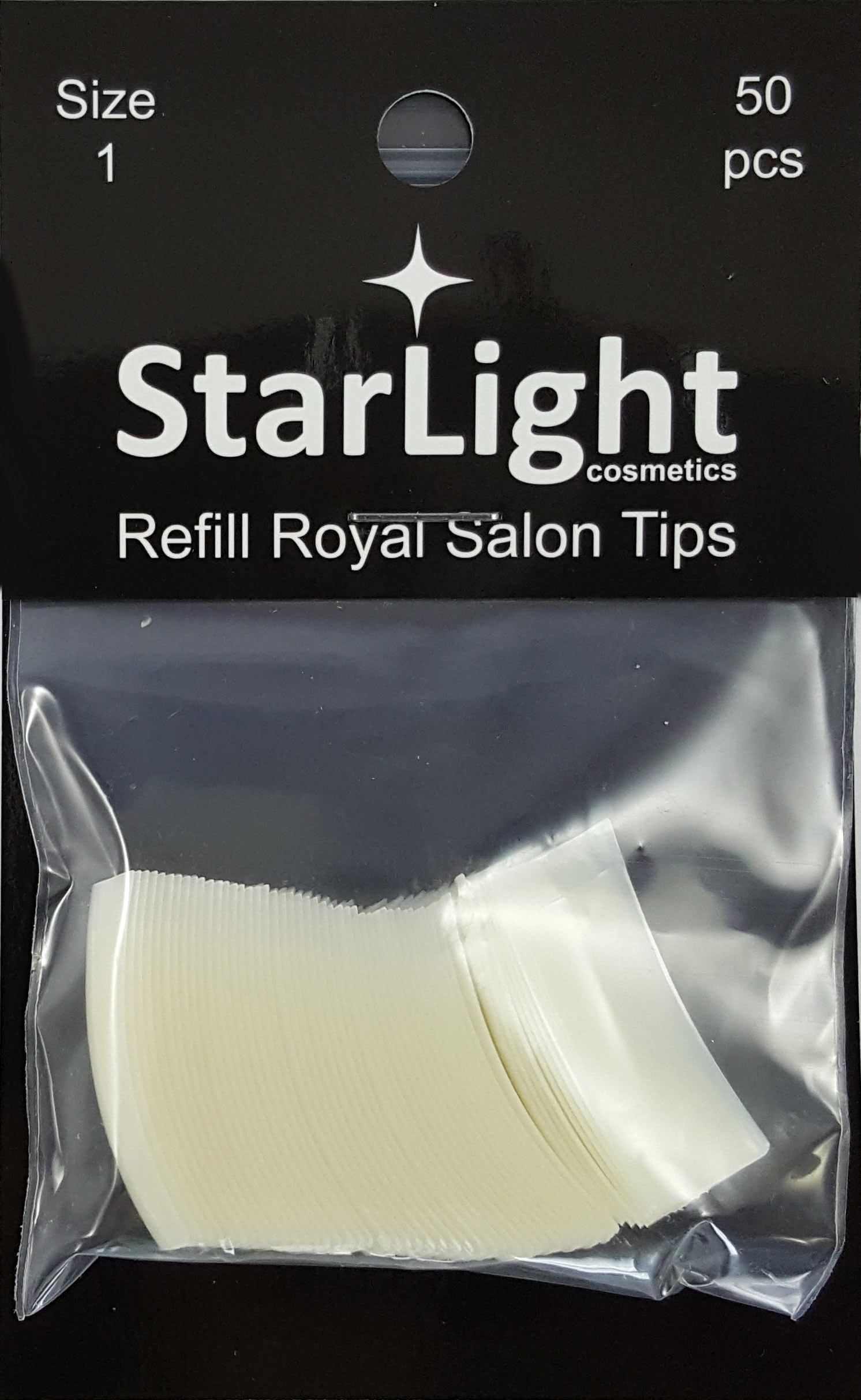 Naglar Royal Salon Tips Refill - 50 st Storlek 1