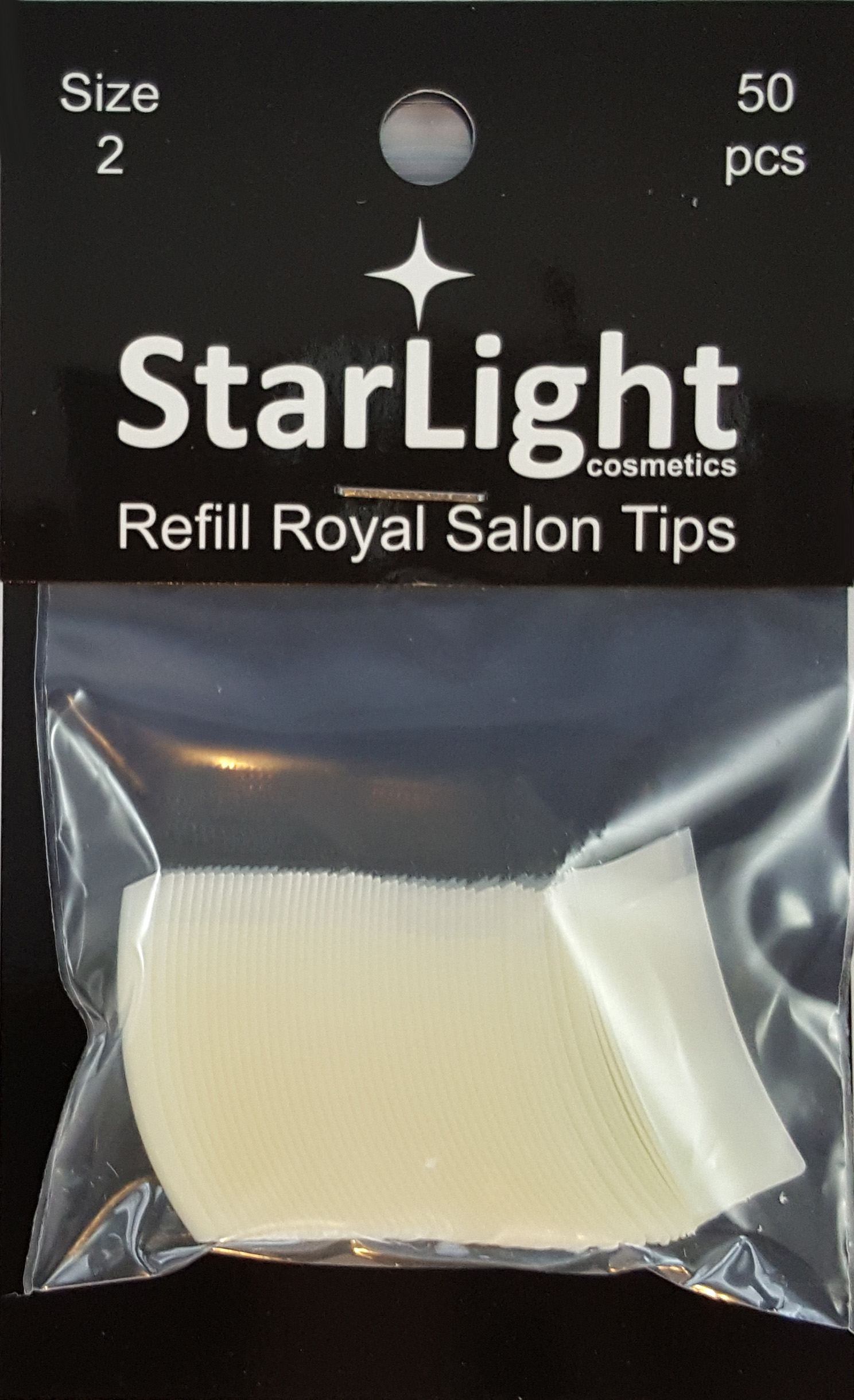 Naglar Royal Salon Tips Refill - 50 st Storlek 2