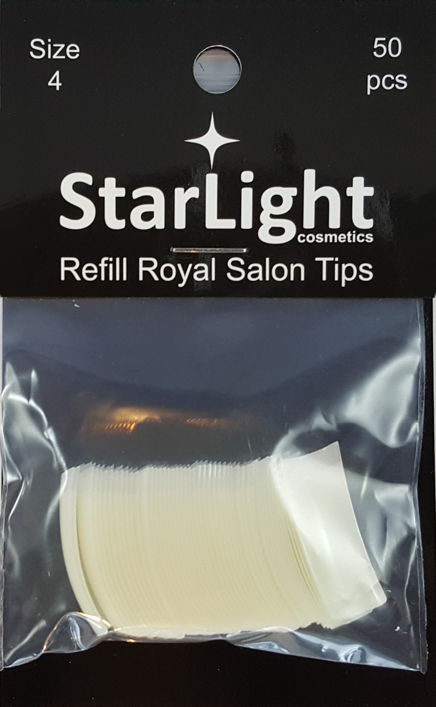 Naglar Royal Salon Tips Refill - 50 st Storlek 4