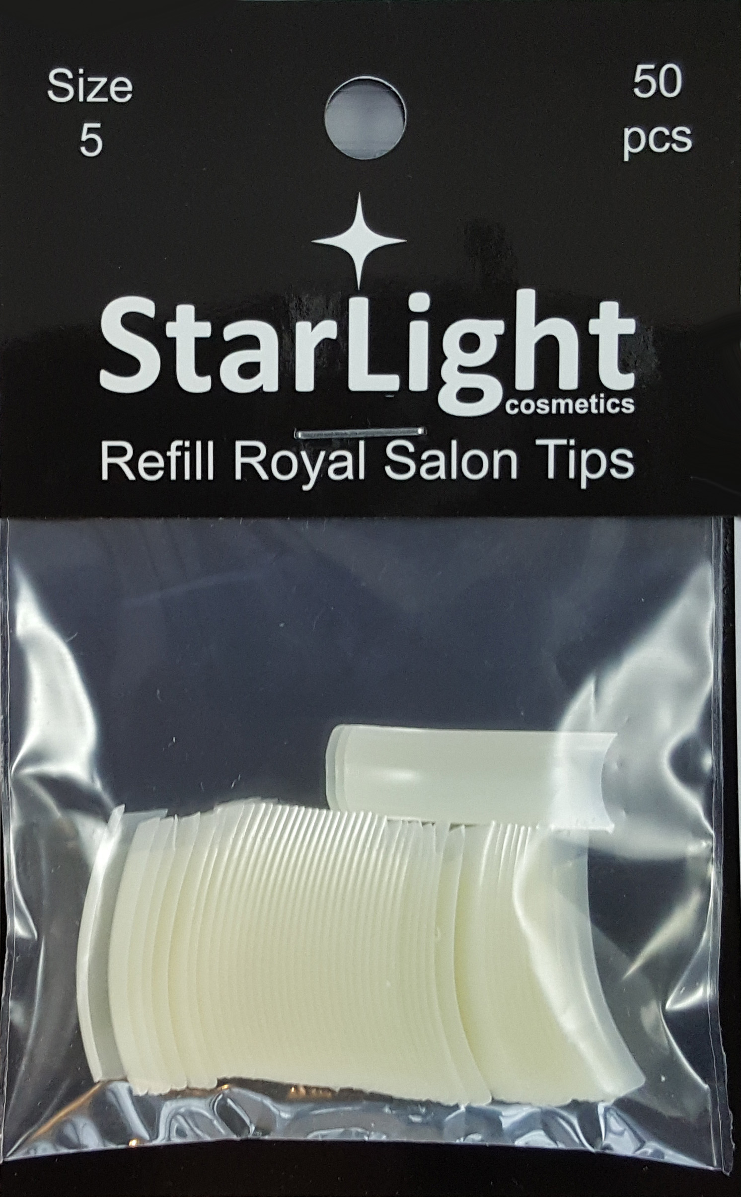 Naglar Royal Salon Tips Refill - 50 st Storlek 5