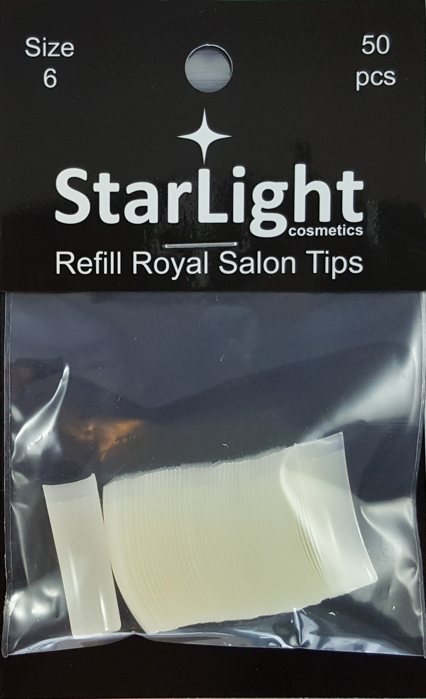 Naglar Royal Salon Tips Refill - 50 st Storlek 6