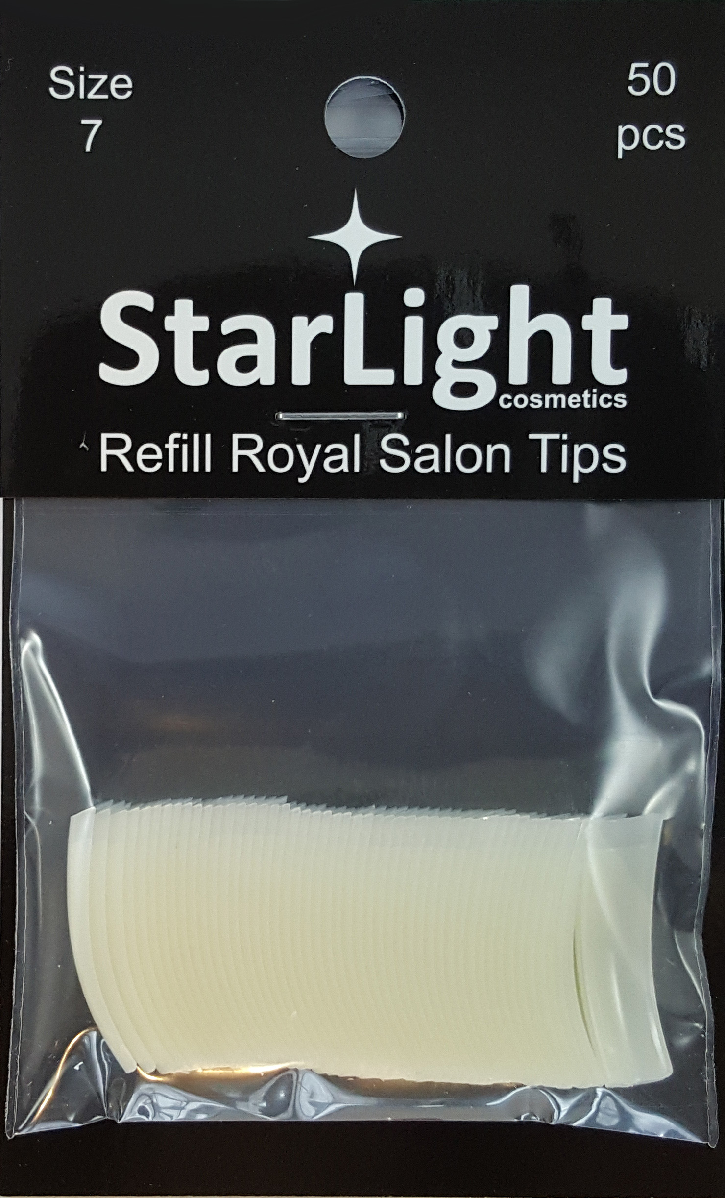 Naglar Royal Salon Tips Refill - 50 st Storlek 7