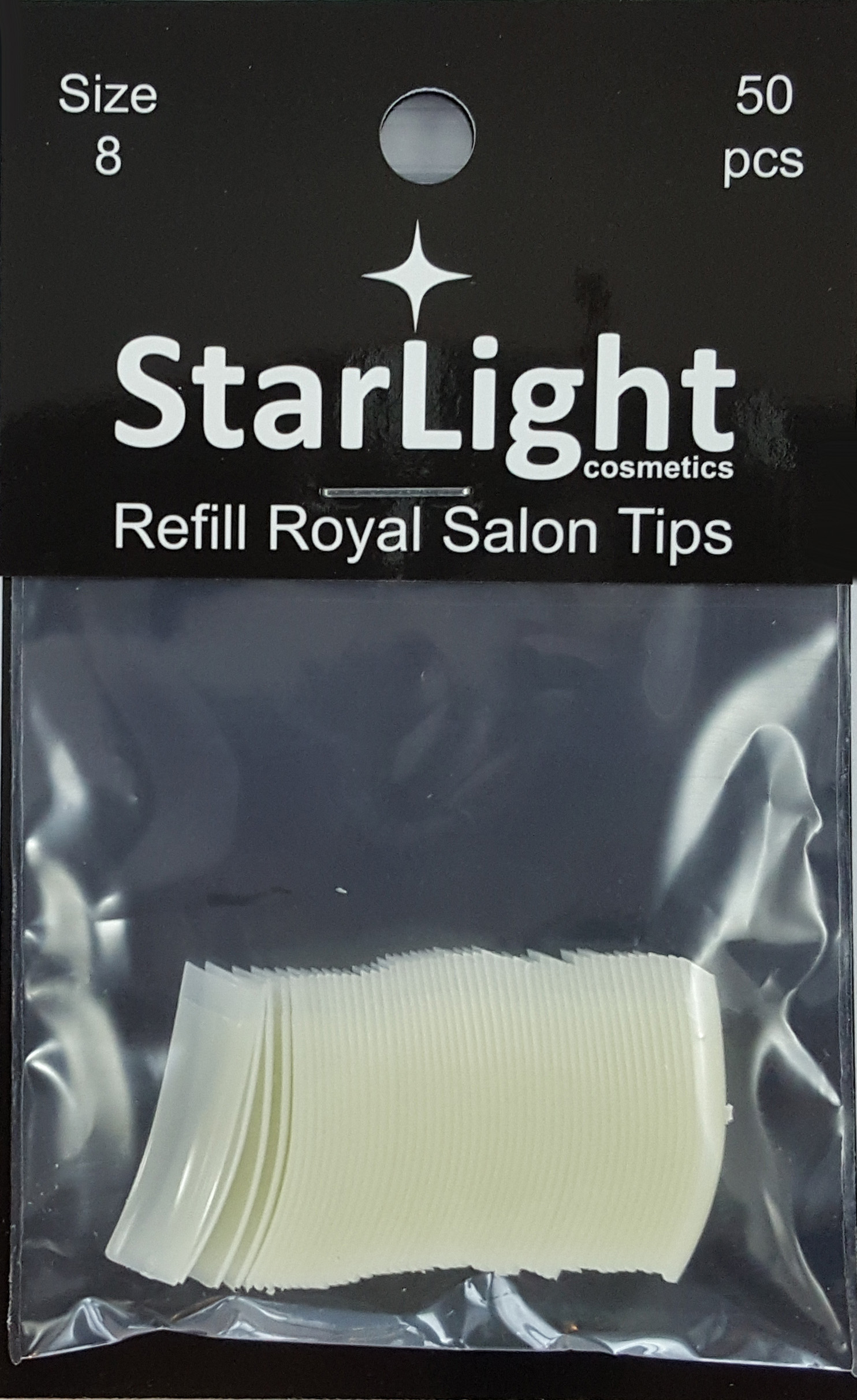Naglar Royal Salon Tips Refill - 50 st Storlek 8