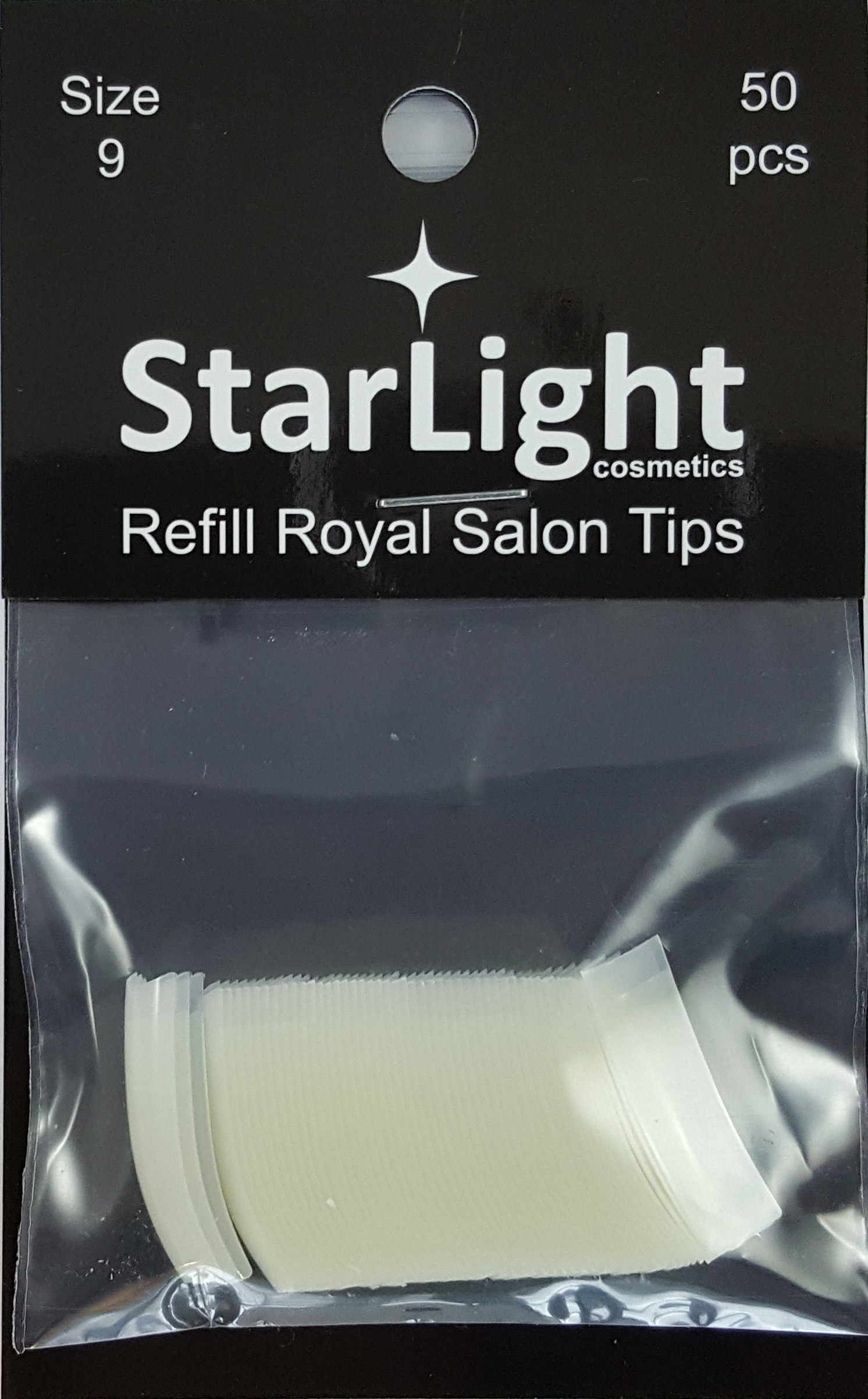 Naglar Royal Salon Tips Refill - 50 st Storlek 9