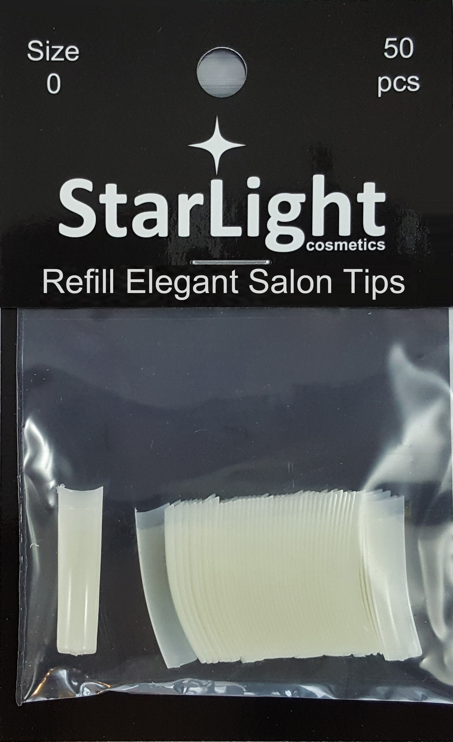 Naglar Elegant Salon Tips Refill - 50 st Storlek 0