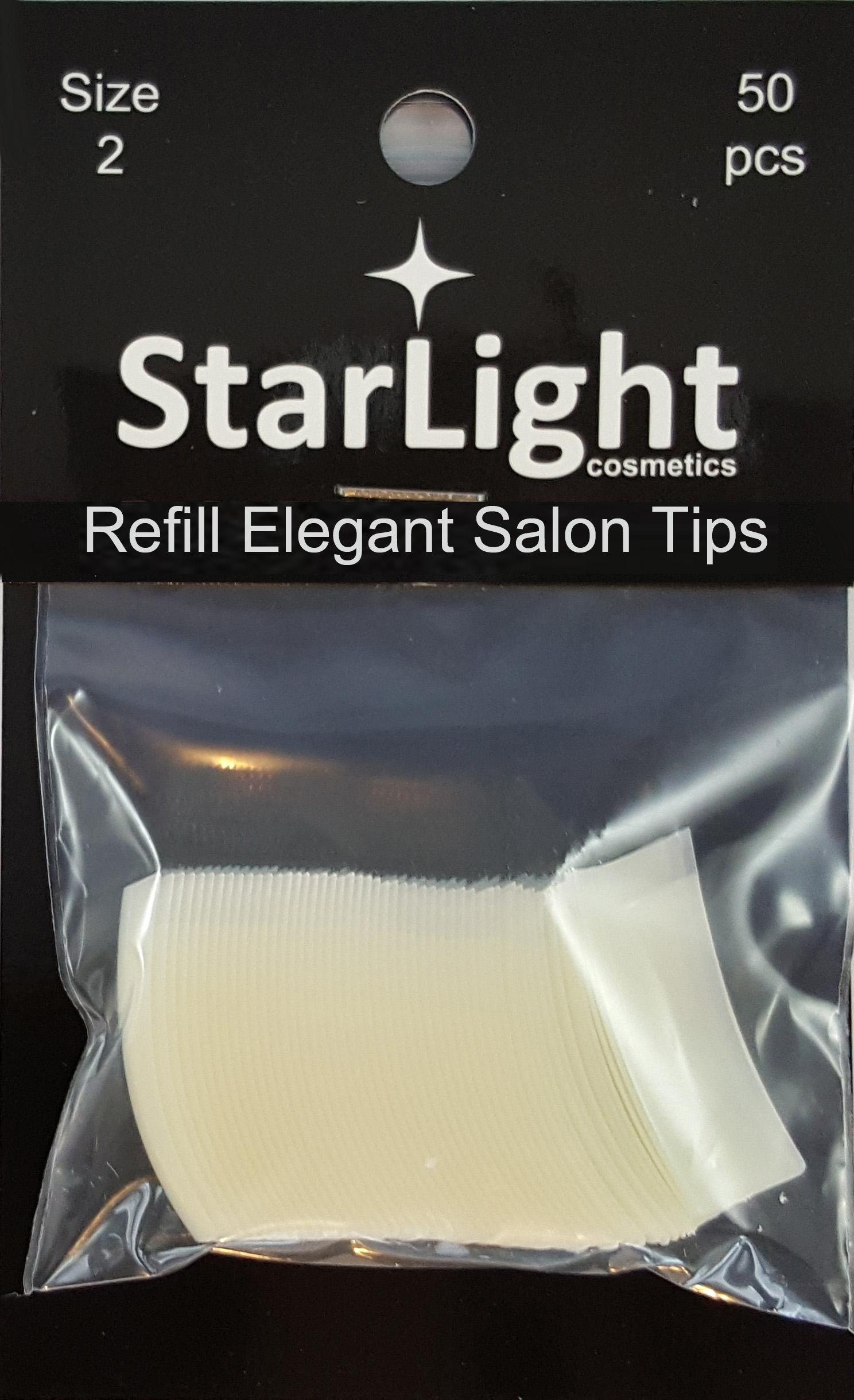 Naglar Elegant Salon Tips Refill - 50 st Storlek 2