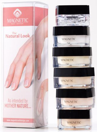 Naglar The Natural Look - Natural White Start Kit Gel (6 x 7,5 gram)