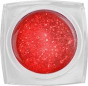Naglar Color Gel Glitter Red - 15 gram