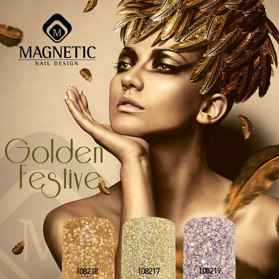 Naglar Pro-Formula Golden Festive Color Collection - 15 gram x 3 st