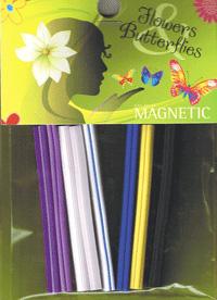 Naglar Flowers & Butterf Canes - 8 st