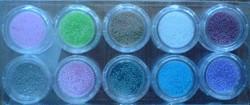 Naglar Glass Beads Kit - 10 olika färger