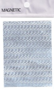 Naglar Självhäftande mönstrat Aluminium Folie - 044