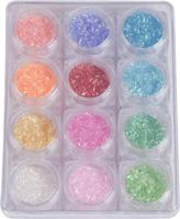 Naglar Nail Art Lines Neon - 12 färger i en Bling Bling Box