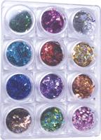 Naglar Rhombus - 12 färger i en Bling Bling Box