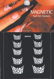Naglar French Nail Art Sticker - 060