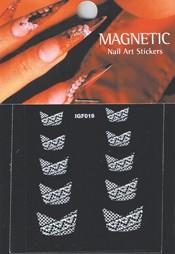 Naglar French Nail Art Sticker - 061