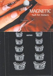Naglar French Nail Art Sticker - 063