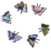 Naglar Fjärilar Pink/Black - 10 st