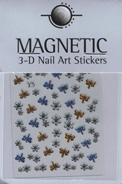 Naglar 3D Shiny Nailartsticker - 158